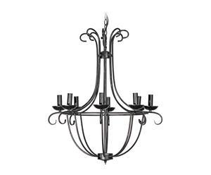 lampadario in ferro haiti nero - d 40/H 42 cm