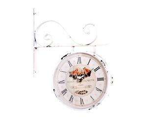 Orologio da parete in ferro a 2 facce De florette - D 34 cm