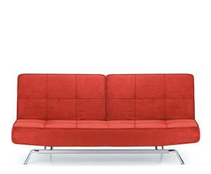 divano letto in microfibra sofia - 40/87x200x91/122 cm