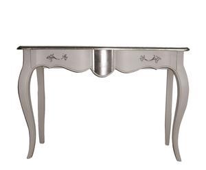 consolle in pino laccato argento pan de plata - 85x120x39 cm