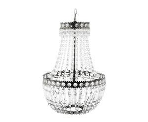 lampadario in metallo e cristallo antiguaa - d 35/H 60 cm