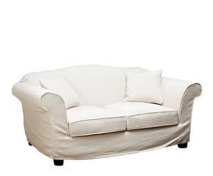divano a 2 posti in lino e cotone Sylvie - 100x180x80 cm