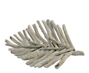 Centrotavola in legno Foglia - 4X33X20 cm