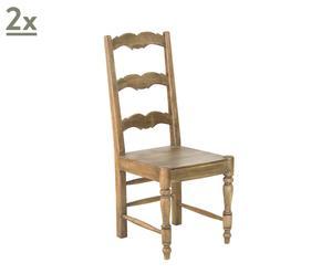 coppia di sedie in mango Epoque - 100x45x45 cm