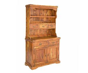 Madia in legno Chateaux a 2 ante, 5 cassetti e alzata