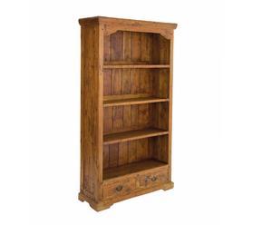 Libreria in legno Chateaux a 4 ripiani e 2 cassetti