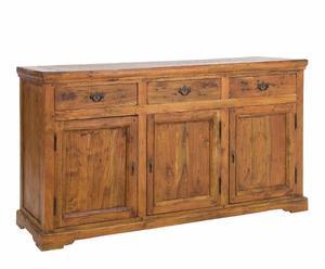Credenza grande in legno Chateaux a 3 ante e 3 cassetti