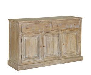 Credenza in legno Epoque a 3 ante e 2 cassetti