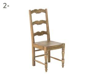 Set di 2 sedie in legno Epoque