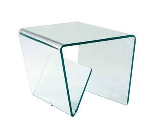 Tavolino/portariviste in vetro Flag - 50X50X50 cm