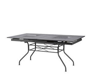 Tavolo estendibile in ferro grigio GEMINI - 220X74X90 CM