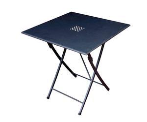 Tavolo pieghevole in ferro grigio KETTY - 70X72X70 CM
