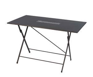 Tavolo pieghevole in ferro grigio KETTY - 120X72X80 CM