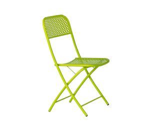 Sedia in ferro verde pieghevole KETTY - 43X84X49 CM