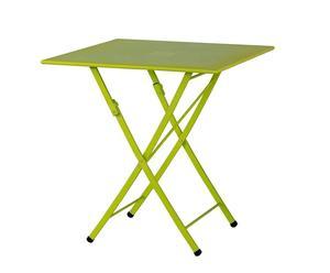 Tavolo pieghevole in ferro verde KETTY - 70X73X70 CM