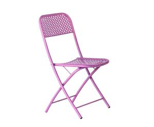 Sedia in ferro viola pieghevole KETTY - 43X84X49 CM
