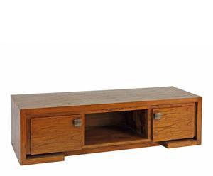 mobiletto tv in acacia miele pascal - 140x40x45 cm