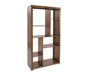 Librería en madera de mango Jamila – nogal