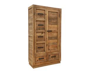 Armadio in legno a 2 ante e 2 cassetti - 220x120x50 cm