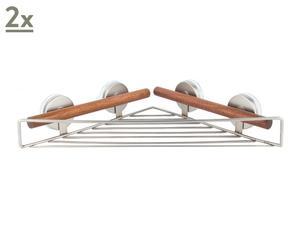 Set di 2 mensole ad angolo con ventosa Bath - 4,5X34X18,5 cm
