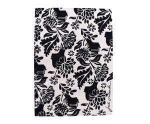 tappeto in lana beige e nero damasco Black - 240x170 cm