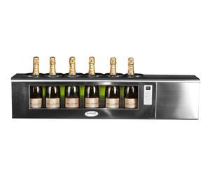 wine cooler in acciaio e vetro MINIDUKE S TOP 6 - 105x27x32 cm