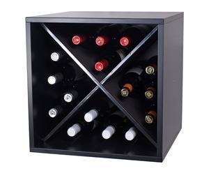 box portabottiglie in melamina Mini Mod MONASTRELL - 42x42x42 cm