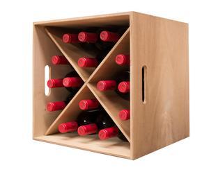box portabottiglie a 16 spazi Mini Mod MONASTRELL - 38x38x38 cm