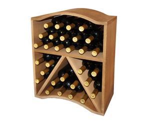 box per 30 bottiglie in laminato marrone - 55x46x24 cm