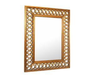 Specchio con cornice in resina e legno Braid - 100x128 cm