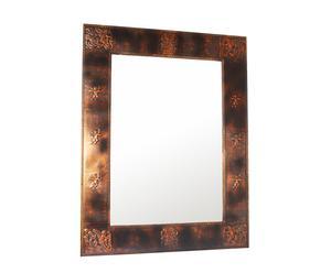 Specchio con cornice in legno Copper - 102x132 cm