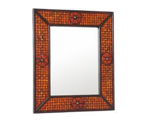 Specchio con cornice in rattan Esotic - 50x60 cm