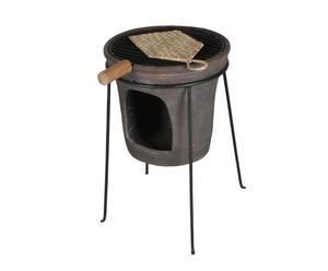 Barbecue in ferro e ceramica Epoque - 35x56 cm