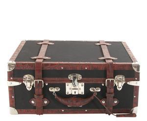Valigia in canvas e pelle Clasica - 21X51X41 cm
