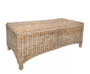 tavolino in rattan arthur - 100x45x60 cm