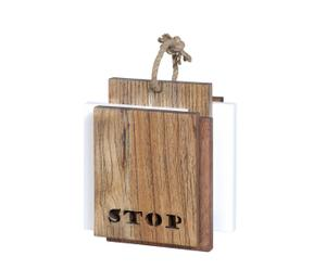Fermaporta in legno Barce - 19x18x10 cm