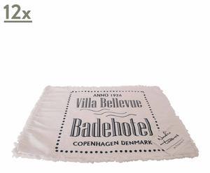 set di 12 tovagliette americane bellevue - 35x48 cm
