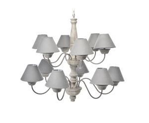 lampadario a 13 luci in legno e metallo diana - d 105/H 84 cm