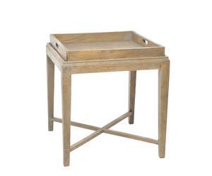 tavolo vassoio in legno banderas - 65x60x60 cm