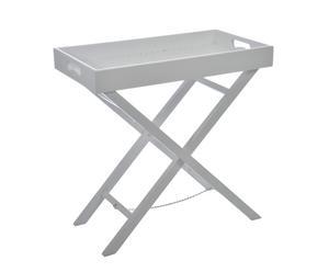 tavolino vassoio in legno banderas bianco - 40x72x71 cm