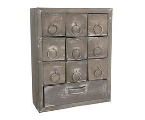 Cassettiera in metallo a 10 cassetti Industrial - 33X26X10 cm