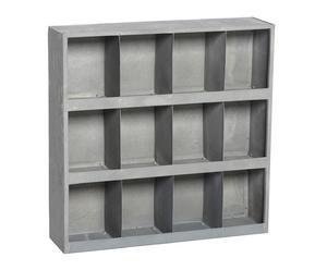 Organizer da parete in metallo a 12 sezioni - 60X60X15 cm