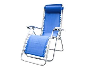 sedia sdraio in alluminio e textilene king - 64x111x160 cm