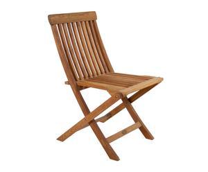 sedia pieghevole in teak Naturale - 45x82x47 cm