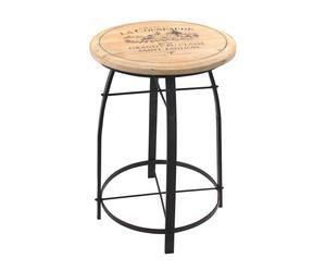 tavolino da bar in metallo winery naturale - 70x51 cm