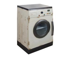 credenza in metallo washing machine multicolor - 88x56x46 cm