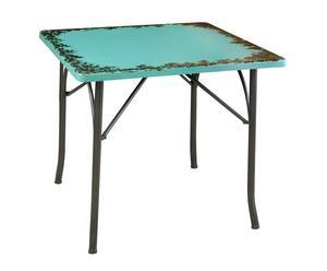 tavolo quadrato in metallo Mridula - 87x74x87 cm