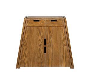 Scarpiera in legno a 2 cassetti e 2 ante Benny - 87x100x35 cm