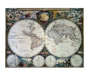Planisfero di Frederic de Wit 1660 - 80x60 cm