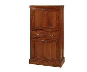 Scarpiera in legno a 2 ante e 2 cassetti - 112x59x33 cm